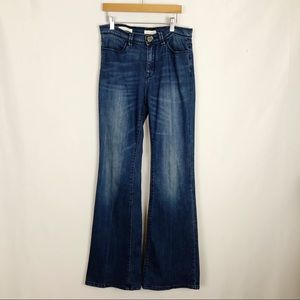 Silence + Noise High Rise Flare Blue Jeans Size 27